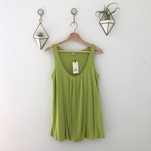 JOIE lime citron green sleeveless top small $160